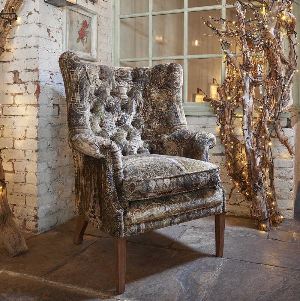 Ompolstring af stol i Mulberry betræk
